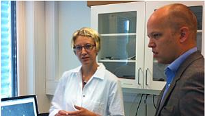 Researcher Anne Hege Alm-Kristiansen and Minister of Agriculture Mr. Trygve Slagsvold Vedum